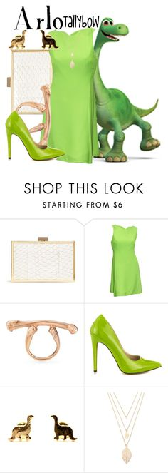 """Arlo"" by tallybow ❤ liked on Polyvore featuring Inge Christopher, Versace, Claire English, Michael Antonio and Forever 21"