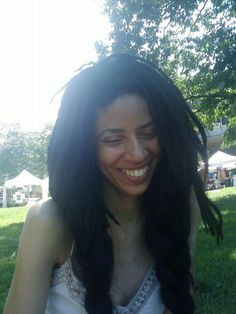 B's loc pigtails at the Brooklyn International African Arts Festival   #locs #pigtails