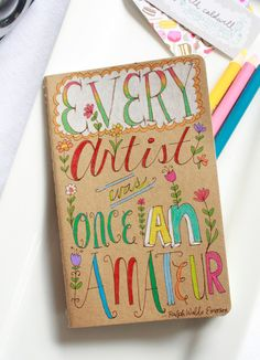 The moleskine that started it all in mini size. This is a one of a kind hand drawn illustration on a mini (approx x in) Moleskine Kraft Sketchbook Cover, Sketchbook Project, Moleskine, Mini Kraft, Doodle Art Journals, Smells Like Teen Spirit, Little Doodles, Hand Lettering, Illustration