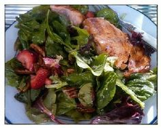 Strawberry Salmon Salad