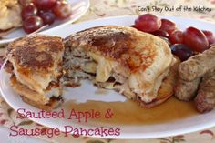 Sauteed Apple and Sausage Pancakes - wonderful, hearty, and satisfying comfort food! #apples #sausage #pancakes #breakfast #glutenfree via Can't Stay Out of the Kitchen