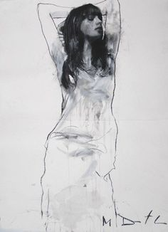 Pictures of the Mark Demsteader exhibition at the Panter & Hall Gallery. Life Drawing, Drawing Sketches, Art Drawings, Drawing Faces, Drawing Tips, Figure Sketching, Figure Drawing, Mark Demsteader, Dancing Drawings