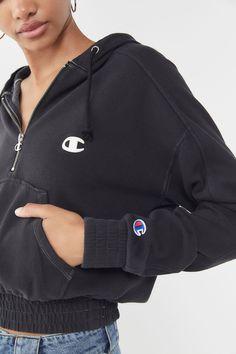 65148c947750 Champion Half-Zip Hoodie Sweatshirt