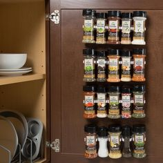 Spice Rack Organizer- Cabinet Gripper Clip Strips for Kitchen, Countertop and Pantry Organization and Spices Storage By Lavish Home, White Spice Rack Clips, Spice Holder, Spice Rack Organiser, Spice Storage, Spice Organization, Spice Racks, Spice Rack With Spices, Household Organization, Planner Organization