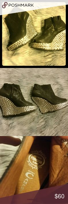 Jeffrey Campbell Havana peep toe booties Amazing Jeffrey Campbell Havana Handmade booties in size 8. These rock the show and steal the spotlight at any occasion !! Jeffrey Campbell Shoes Platforms