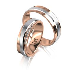 MEISTER Wedding-Ring PHANTASTICS Twinset 67 - wedding-rings redgold/whitegold | MEISTER