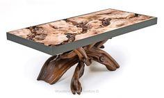 Burl Wood & Juniper Log Coffee Table by Woodland Creek