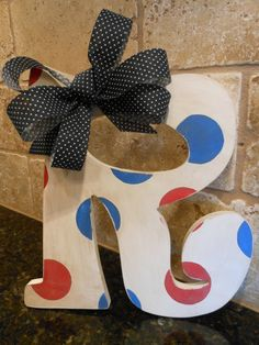 Hand Painted Antiqued Wooden Initial Letter R Craft Letters, Letter A Crafts, Initial Letters, Painted Initials, Wooden Initials, Hand Painted, Pearl Boutique, Christmas Ideas, Projects To Try
