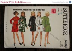 30%OffPatterns Butterick 5468 1960s 60s by EleanorMeriwether
