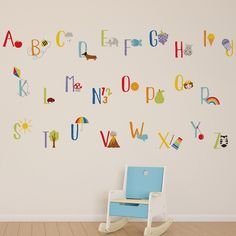 The rainbow alphabet wall stickers are an ideal finishing touch for a kids bedroom or nursery. Easy to apply, the high quality wall stickers will look great whe. Rainbow Wallpaper, Kids Wallpaper, Wall Wallpaper, Bedroom Themes, Kids Bedroom, Bedroom Decor, Bedroom Ideas, Alphabet Wallpaper, Rainbow Theme