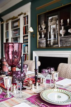 """Yesterday, I stumbled upon the image above of Alexa Hampton's Manhattanapartment and gushed to Simon, """"this is my dream bedroom!"""" It's no surprise, that the interior designer's home is the envy of maximalist's everywhere. I love Alexa'straditional decorating style paired with her fearlessuse of color (the plum walls in the bedroom are so good). Below, …"""