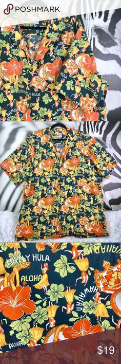 "7e98a69c MENS Hilo Hattie 2XL Hawaiian ""Lovely Hula"" Shirt MENS Hilo Hattie 2XL  Hawaiian """