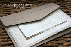Wedding Invitations Wrapped in Lace and by InspirationsbyAmieLe, $50.00