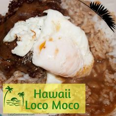 I've never been to Hawaii but I've heard about the food and I've read a lot about it. There poi, poke, spam, pineapples and coconuts, and loco moco. Fun Foods To Make, Food To Make, Hawaiian Breakfast, Loco Moco, State Foods, Cooking White Rice, Hamburger Patties, Recipe Notes, Kitchens