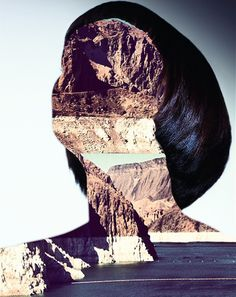 """Saatchi Online Artist: Erin Case; Digital, 2012, Assemblage / Collage """"Haircut 10 (with Andrew Tamlyn)"""""""