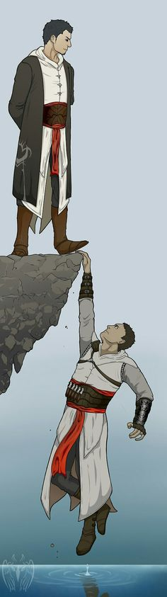 We all know Malik would jump in if Altaïr actually started drowning. Probably