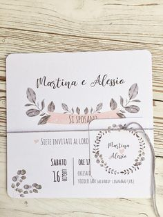 partecipazione matrimonio bianca rosa cipria e grigio chiaro Paper Design, Bullet Journal, Pink, Atelier