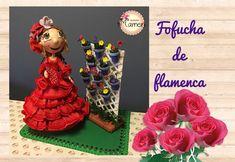 1 Parte Fofucha de flamenca paso a paso hecha con gomaeva. Creaciones M...
