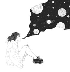 drawing art Black and White smoke My art Grunge space galaxy artwork creepers pale pale grunge creeper shoes saját support me support my art