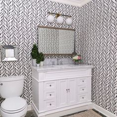 This bathroom is from one of our projects that we refreshed in one day - talk about a nail biter! (Swipe to see the before.) A full overhaul on bathrooms is what usually makes my little design heart happy, but in this case, a quick refresh was just what this space needed to get it ready for our clients to move in.