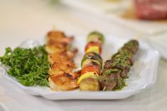 Al Roker serves up simple shrimp, beef and vegetable kabobs