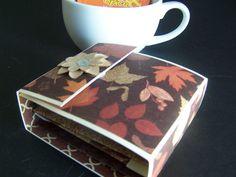 Fall Tea Gift Box - Autumn Tea Gift Box - Tea Bag Holder - Tea Wallet - Fall Tea…