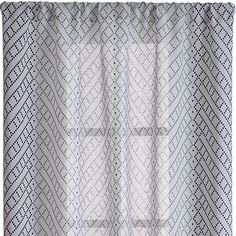 Lorena Blue Chevron Curtains   Crate and Barrel $69