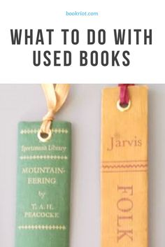Have some used books lying around? Ideas for what to do with them, both on the donation and the DIY front.