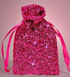 Red Gift Favor Bags Sparkle Fancy Gift Bags Jewelry Perfume