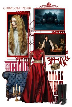 """Indulge Your Dark Side with Crimson Peak: Contest Entry"" by malinda108 ❤ liked on Polyvore featuring Louis Vuitton, Alexander McQueen, contestentry and CrimsonPeak"