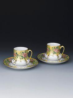 Handpainted Turkish Coffee cups - Paşabahçe
