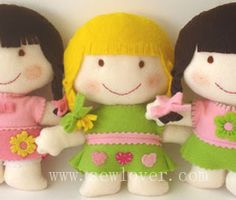 Mimin Dolls: bonequinhas de feltro