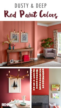 Color of the Month: Flamingo Feather - Colorfully BEHR Modern Paint Colors, Pink Paint Colors, Behr Colors, Bedroom Paint Colors, Living Room Colors, Red Colour Palette, Paint Color Palettes, Shades Of Red Color, Entryway Paint