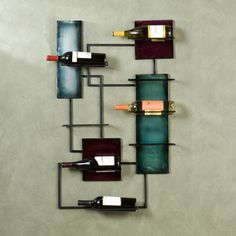 Extravagant Wall Wine Rack For Interesting Home Accessories Ideas: Modern Cabinets Metal Wall Wine Rack For Wonderful Wall Bar Accessories Inspired 5 Bottle On Grey Wall Paint Design Ideas