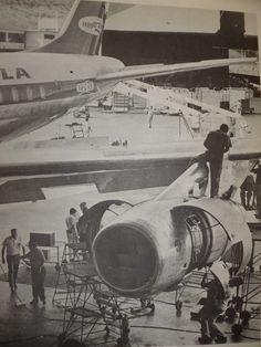 ranscarga, Douglas DC-8-55CF (YV-C-VIM) en SVMI, en inspección D