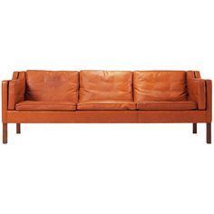 Cognac leather sofa by Borge Mogensen | From a unique collection of antique and modern sofas at http://www.1stdibs.com/furniture/seating/sofas/