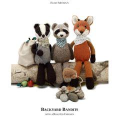 Fuzzy Mitten's Backyard Bandits (badger, raccoon,fox & roast chicken)