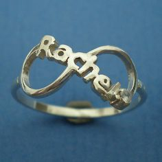 Personalized Infinity Ring  Birthstone Ring  Custom by yhtanaff, $45.00