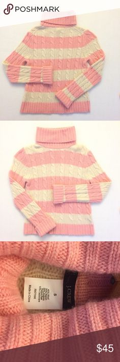 J. Crew Striped Turtleneck In excellent preowned with no stains, fading or tears/holes J. Crew Sweaters Cowl & Turtlenecks