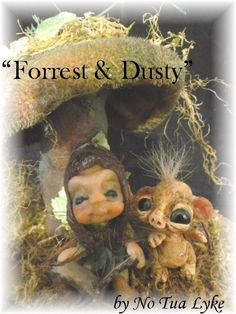 ooak baby miniature mushroom fairy faerie fae woodland sprite by No Tua Lyke