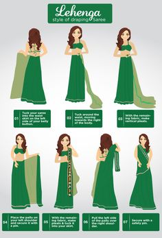 7 Effortless Saree Draping Tutorials That Will Make You Look Like A Pro We all know that nothing beats the grace of a nine-yard saree if it's draped to perfection. But the million dollar question is—how to wear a saree perfectly Drape Sarees, Saree Draping Styles, Saree Styles, How To Drape Saree, Indian Dresses, Indian Outfits, How To Wear A Sari, Style Indien, Lehenga Style Saree
