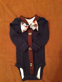 Aiden - Baby Boy Clothes – Newborn  Outfit - Infant Bowtie Cardigan- Photo Prop- Baby Shower Gift- Preppy- Ring Bearer-Christol and Company