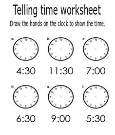 Telling time is not always a fun skill to teach young learners. This free printable telling the time worksheets will help you to create an engaging learning activity for your kids. Educational Activities, Learning Activities, Activities For Kids, Worksheets For Kids, Math Worksheets, Teaching Kids, Kids Learning, Printable Valentine, Free Printable