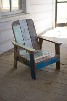 Kalalou Recycled Teak Childrenu0027S Sun Chair   Made From Recycled Teak Wood,  This Adorable Chair