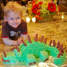 Logan's Dragon Cake. Simple tutorial. Just as fun, less stress to create.