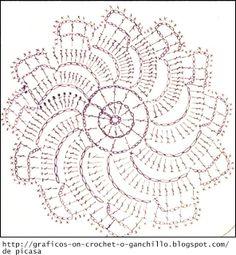 Crochet chart flower...