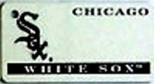 """This is an MLB Chicago White Sox Team License Plate Key Chain or Tag. An excellent and affordable gift for an avid MLB fan! The key chain is available with engraving or without engraving. It is a standard key chain made of durable plastic and size is approximately 1.13"""" x 2.25"""" and 1/16"""" thick."""