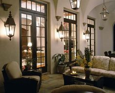 view 1 of 2 :: French influence loggia designed by Kevin Harris Architect, LLC