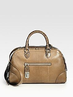 29170b2883 Marc Jacobs Venetia Small Python Bowler Bag  3