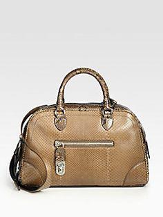 f06acb38a6 Marc Jacobs Venetia Small Python Bowler Bag  3